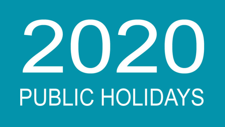 2020 Public Holidays in India